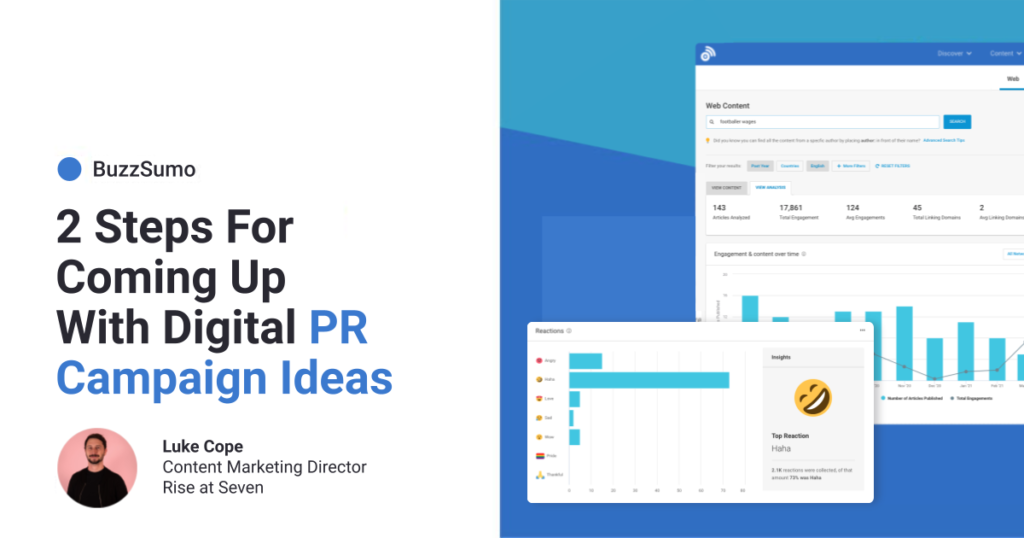 2 Steps For Coming Up With Digital PR Campaign Ideas