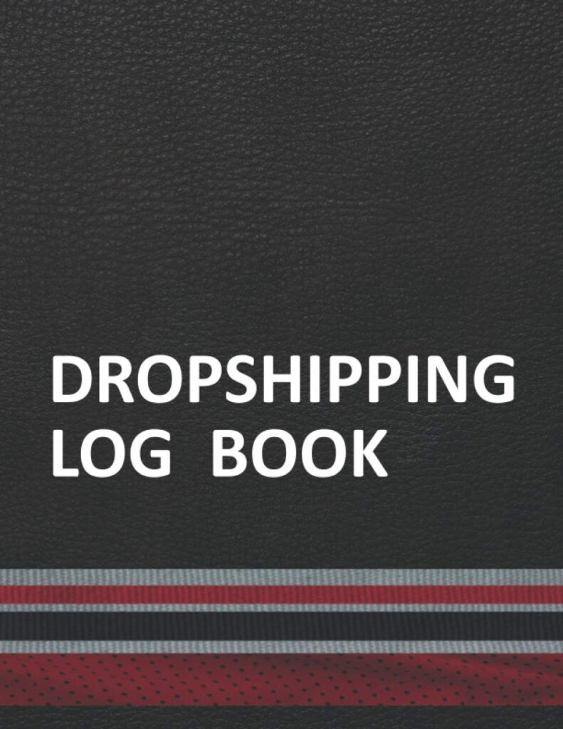 Dropshipping Log Book: Data Entry Essentials Tracking Organizer Record in Sports Team Colors